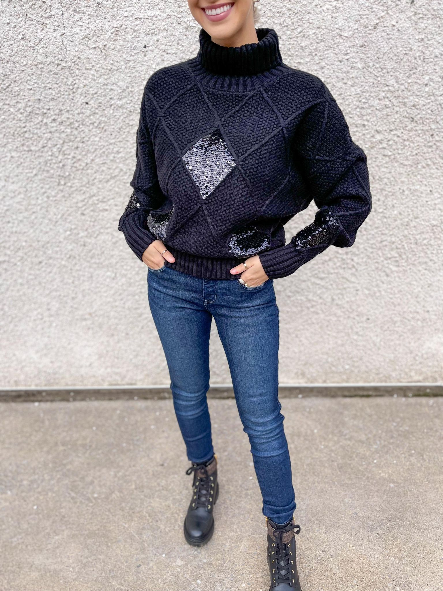 Look Tricot chic